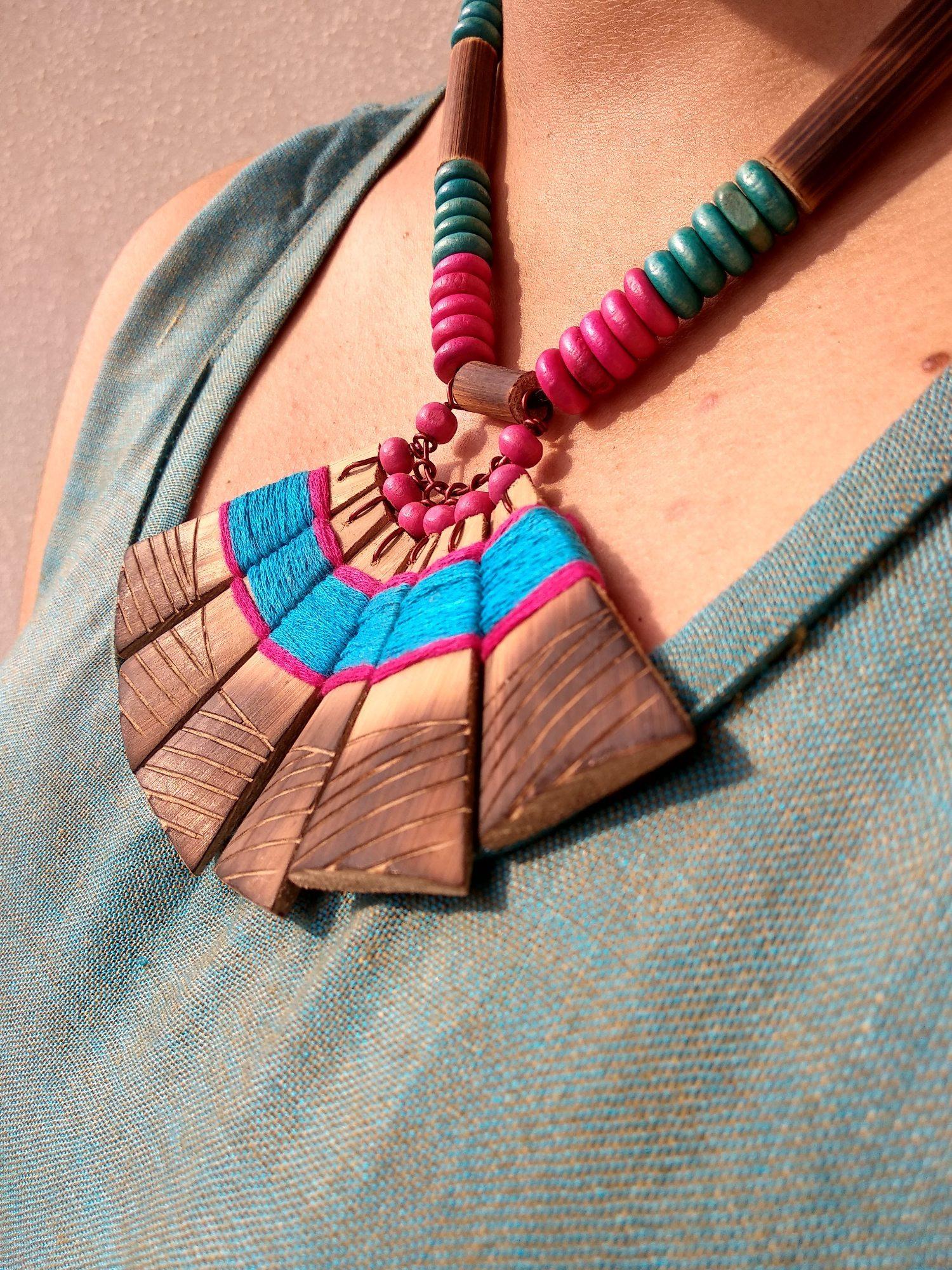 Handmade Bamboo Tribal Jewellery Set