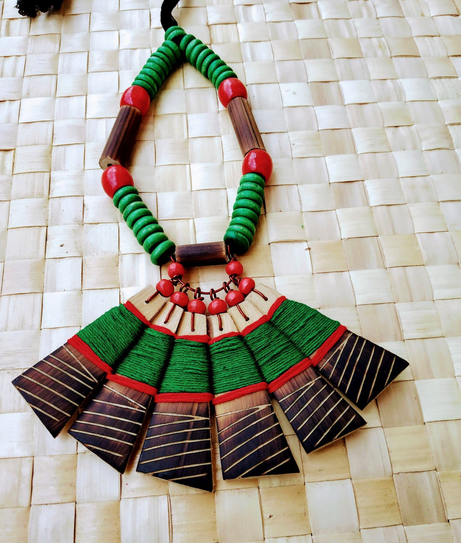 Handmade Bamboo Tribal Jewellery Set