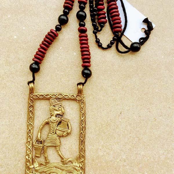 Handmade Pitcher Man Dokra Pendant