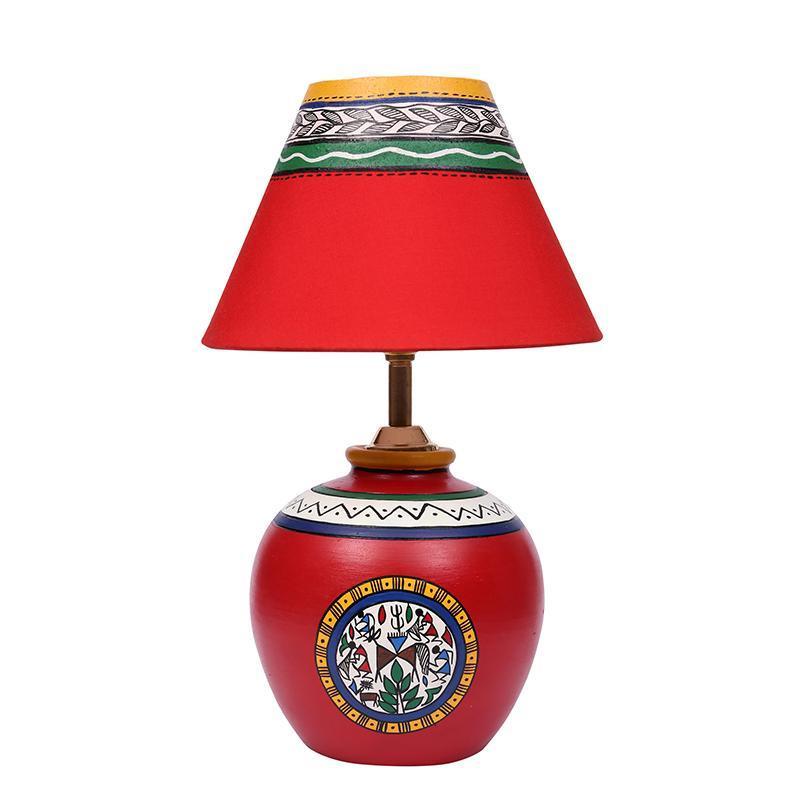 Terracotta Matki Red Table Lamp