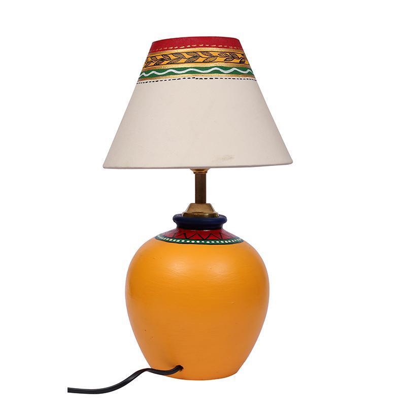 Terracotta Matki Yellow Table Lamp