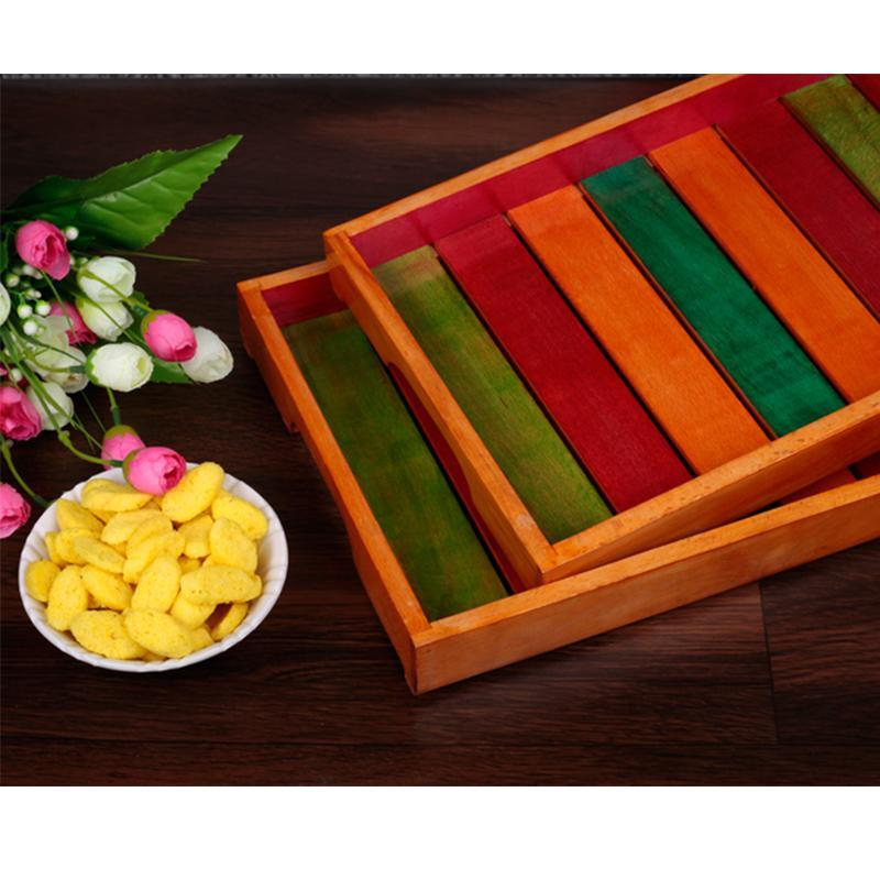 Hand-Carved Wooden Serving Trays