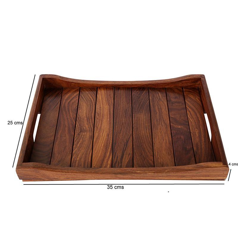 Handcarved Wooden Serving Trays