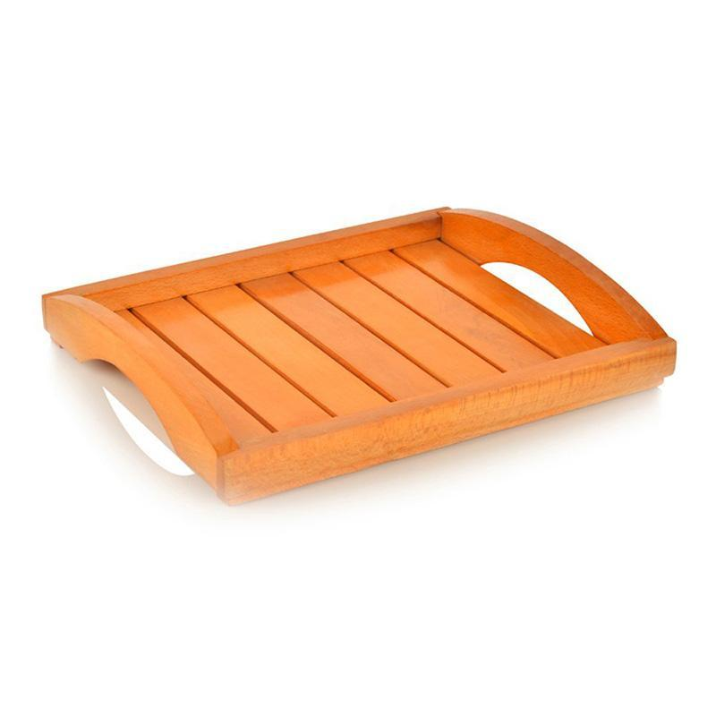 Handcarved Orange Wooden Bowls & Tray