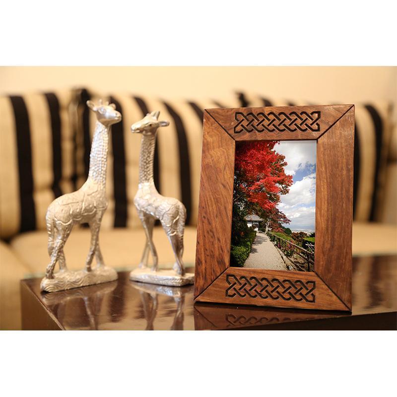 Handcarved Wooden Photo Frame