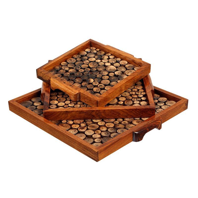Handcarved Wooden Trays