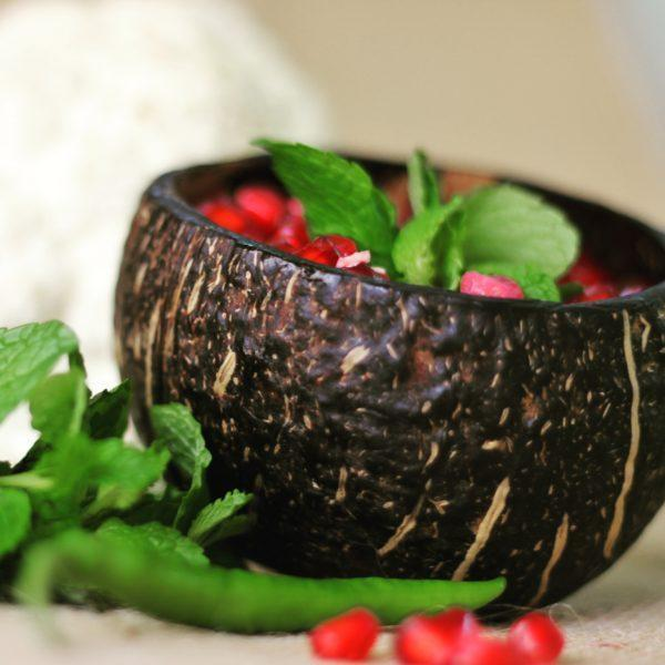 Coconut Shell Snack Bowls