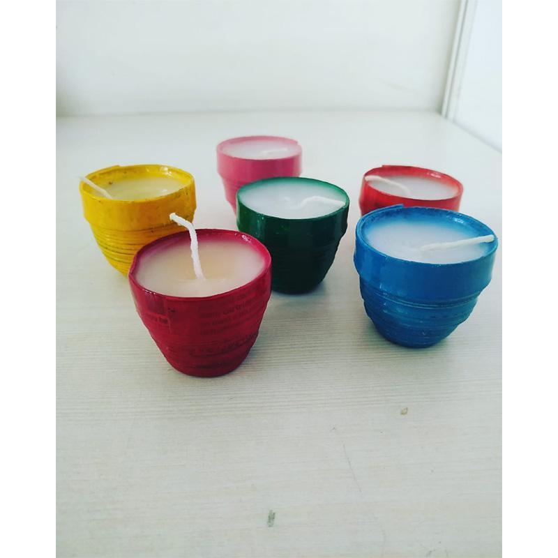 Upcycled Newspaper Candles