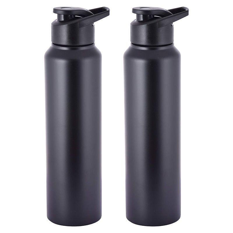 Stainless Steel Water Bottle (Set of 2), 1Lt each