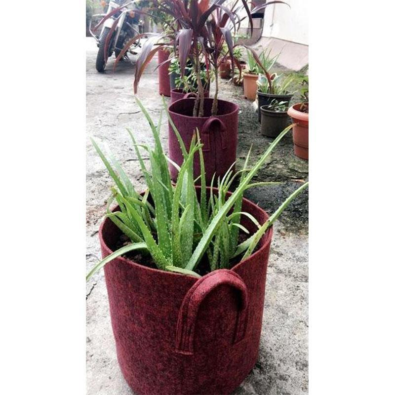 Recycled Red Grow Bags for Gardening