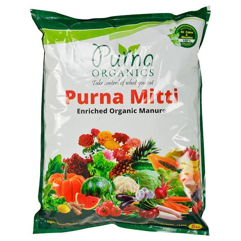 Purna Mitti - Ready To Use Organic Potting Mix 5Kg