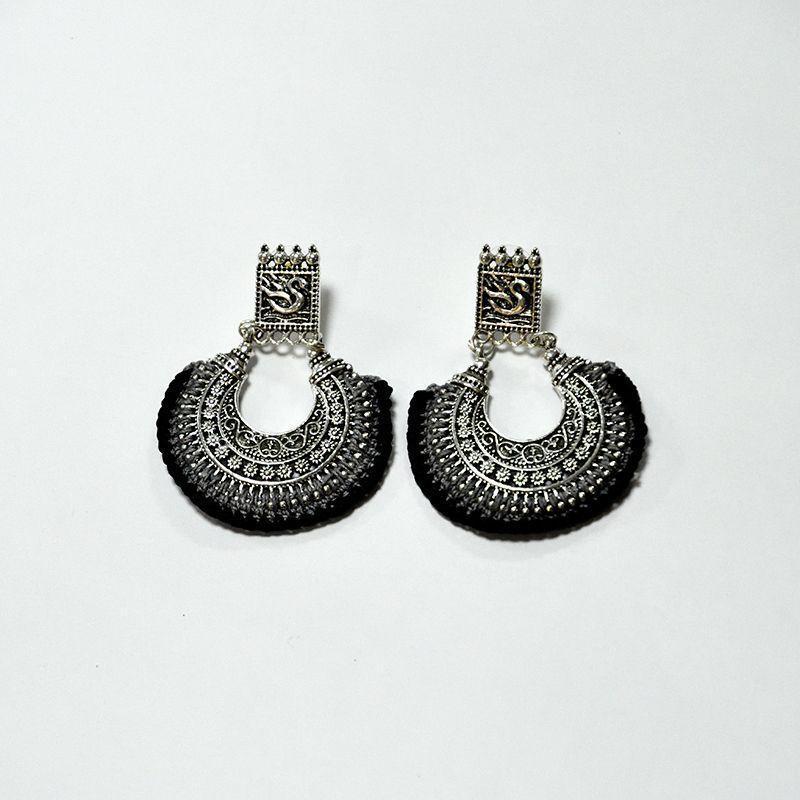 Crochet Chandbali Earrings