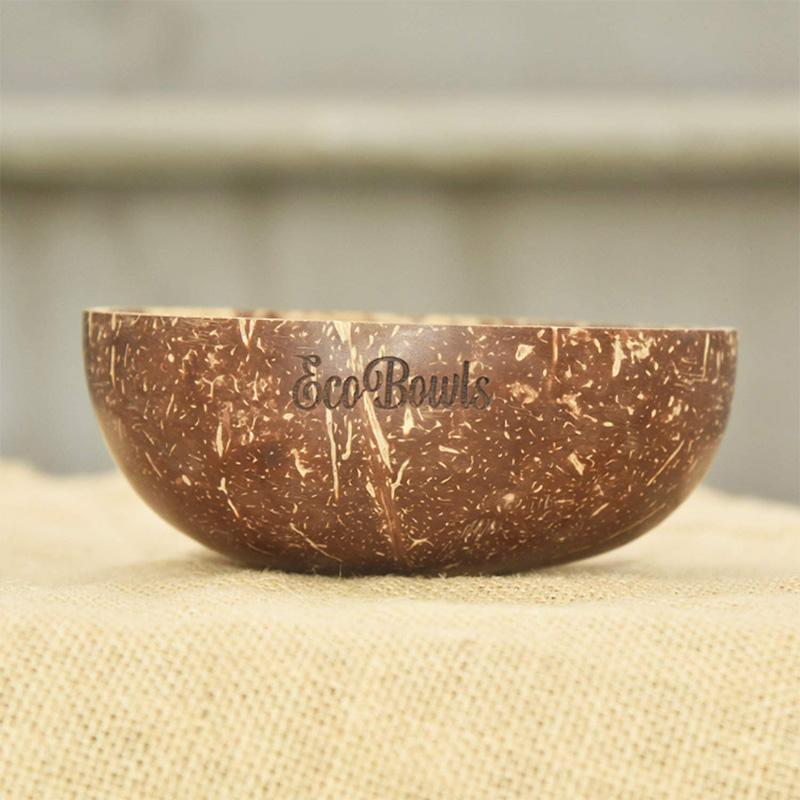 Coconut Shell Bowl with Spoon Combo
