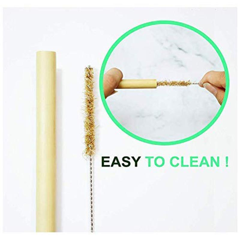 Reusable Bamboo Straws with Cleaner
