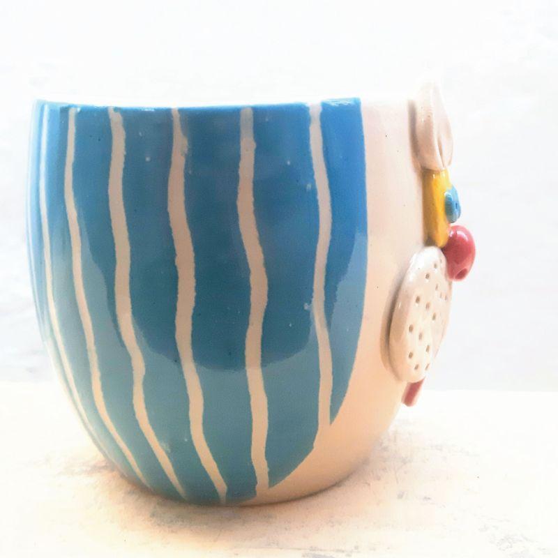 Striped Blue Bunny Planter
