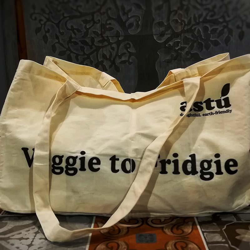 Copper Beech Veggie-To-Fridgie Bag with 6 Non-Detachable Pockets