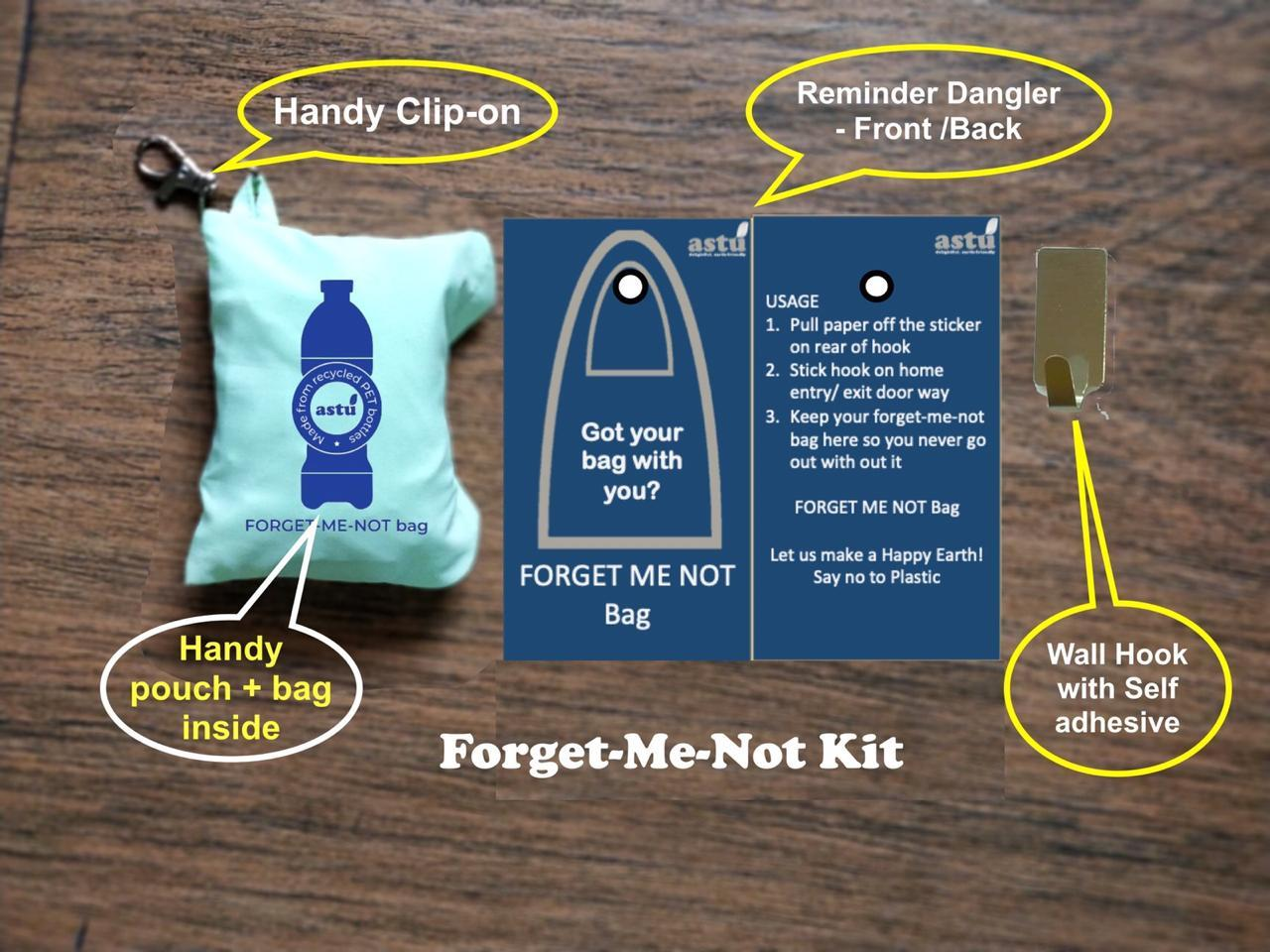 Forget-Me-Not Reusable Shopping Bag
