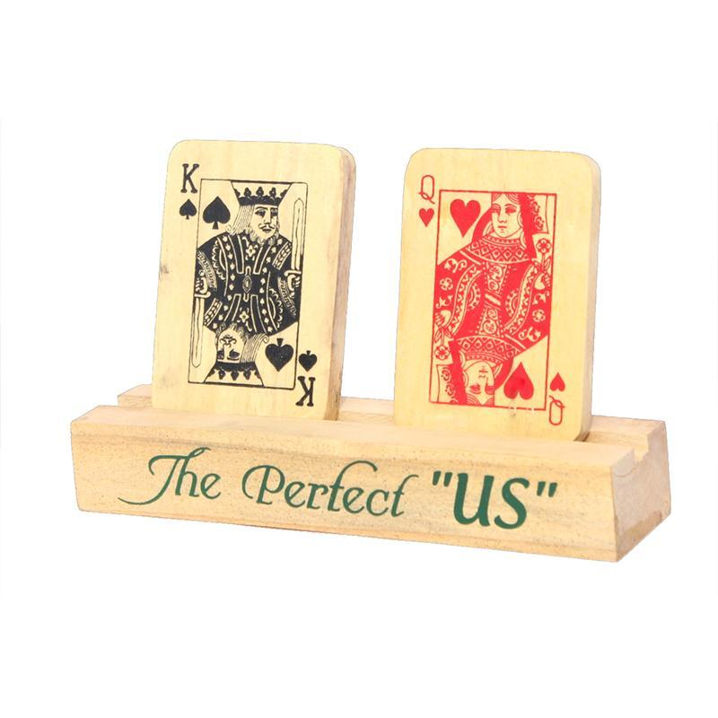 Poker Themed Wooden Showpiece
