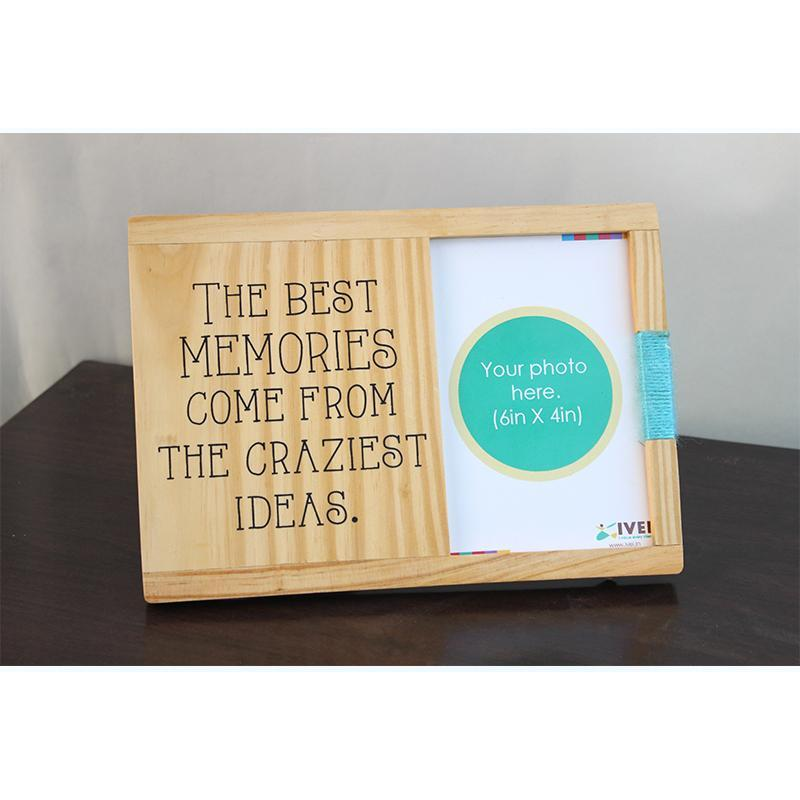 Wooden Quote Photo Frame