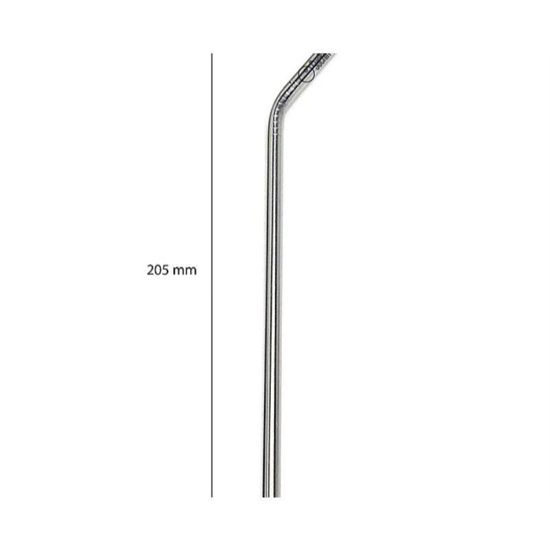 Reusable Silver Coloured Steel Straw Combo