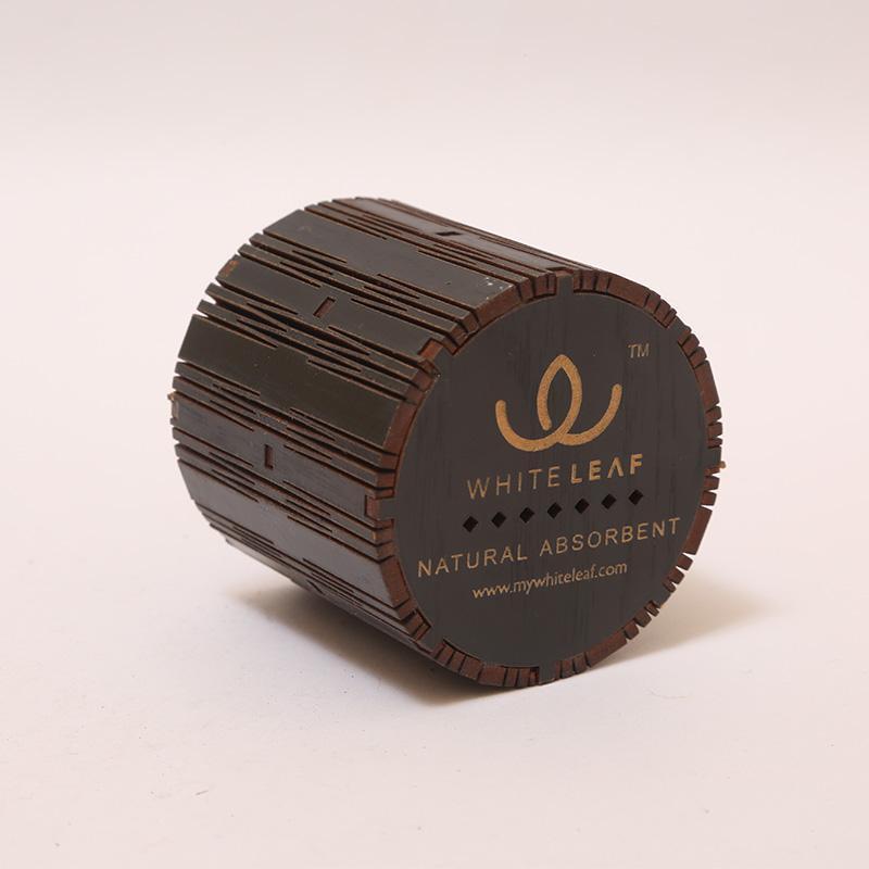 Natural Black Cylindrical Car Freshner