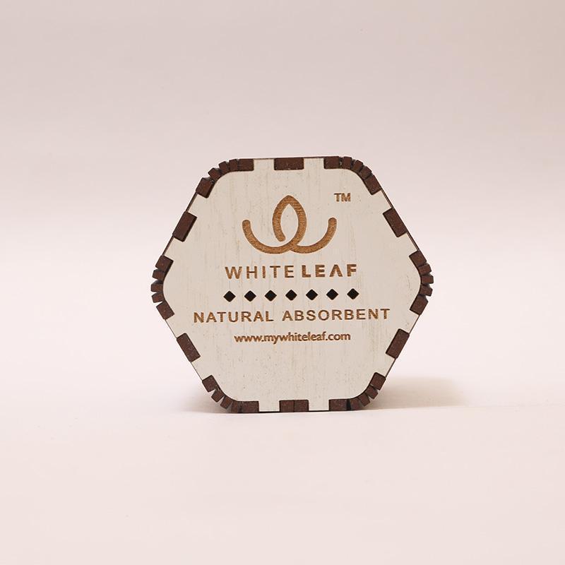 Natural White Hexagonal Car Freshner