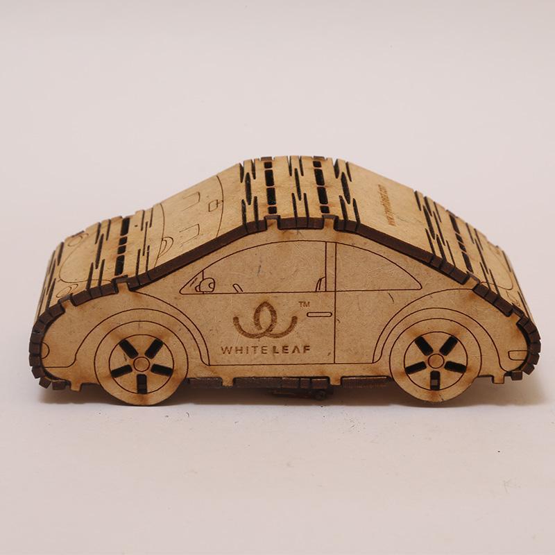 Natural Beige Car Shaped Car Freshner