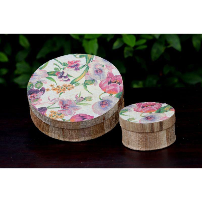 Handmade Decoupage Banana Fibre Boxes
