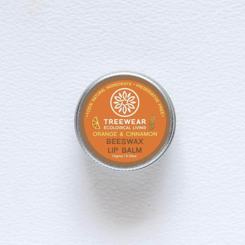 Orange & Cinnamon Beeswax Lip Balm