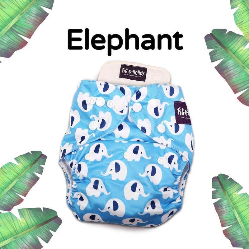 One-size cloth diaper